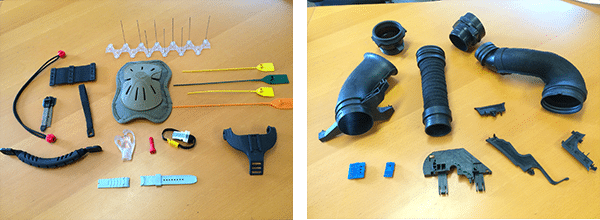 Plastic parts made with injection moulds